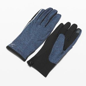 Lululemon Navy Blue Resolute Runner Gloves L XL